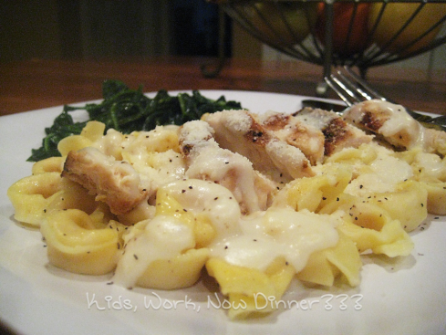 Chicken Tortellini with Asiago Cream Sauce