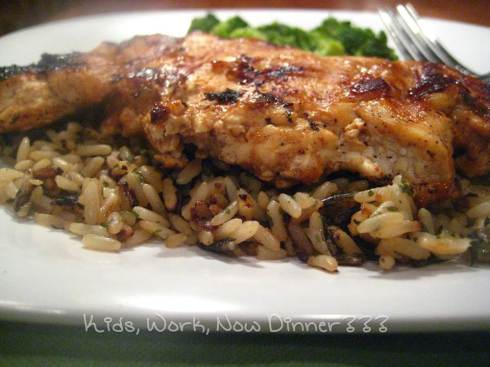 BBQ Grilled Chicken & Rice - www.KidsWorkDinner.com
