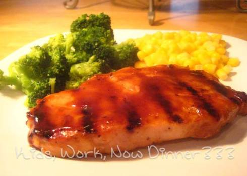 Simple Grilled Barbecue Chicken Breast - www.KidsWorkDinner.com