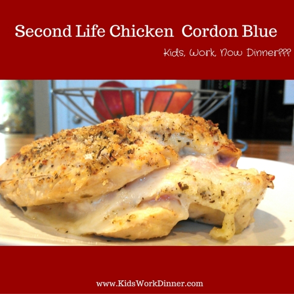 Second Life Chicken Cordon Bleu - www.kidsworkdinner.com